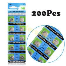 200 Piles batterie Bouton référence AG 13 AG13,LR44,357,SR44,A76 Alcaline