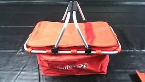 Branded Folding Flat Pack Picnic Cooler Bag with Aluminium Frame & Handles - NEW