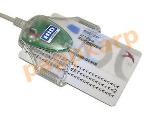 OMNIKEY 3021 USB Smart Card CAC Reader Writer Military Medical ID eID 1021 HID