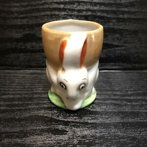 Vintage Bunny Lusterware Easter Egg Cup Japan Ceramic