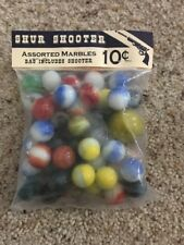 Vintage Shur Shooter Assorted Marbles 1940'S