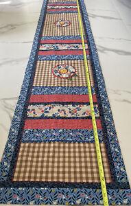 Handmade patchwork Table runner 110 x 18 Spring Flower