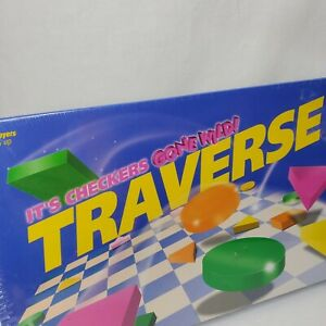 Traverse Board Game Educational Strategy Shapes Colors Home School Vintage New