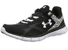 New Under Armour 1258731-002 Micro G Black White Women's Running Shoes Size 9 US