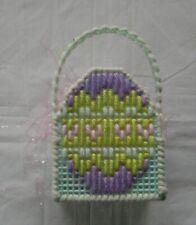 Handmade Plastic Canvas Easter Basket - NEW