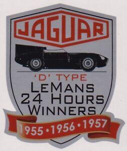 Jaguar D-Type Le Mans 1955, 56, 57 Sticker