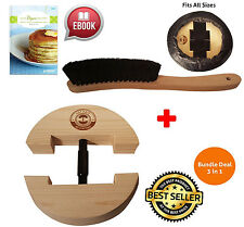 Premium Hat Stretcher Hat Brush for Cowboy Fedora Solid Wood Heavy Duty One Size