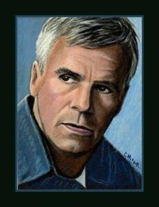 Jack O'Neill Stargate SG1 ACEO Art miniature portrait Sketch Card Drawing