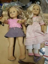 """American Girl Doll 2013 Blond Hair green blue  eyes lot accessories 18"""" (l4)"""