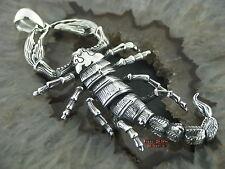 Ketten Anhänger GROßER Skorpion  Gothic Silber 925 Scorpio Skorpion pendant