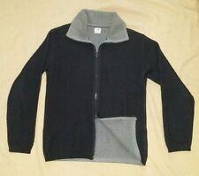 Sz 5 CP Company Zipper Cardigan Grey Black Wool Men Sweater Jacket stone island