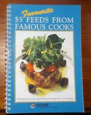 Favourite $5 Feeds From Famous Cooks 1998  Cookbook Australian Celebrities