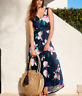Ex Phase Eight Magnolia Floral Print Jersey Maxi Dress in Navy Size 10 - 18