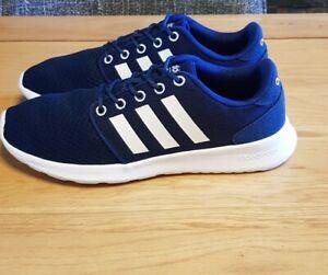 Adidas neo cloudfoam Trainers Size UK 6.5 Blue White