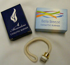 SALE 2 PCS.Of CATALYTIC OIL LAMP WICKS-GOLD-NEW IN BOX -STANDARD SIZE