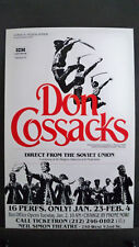 DON COSSACKS Window Card NEIL SIMON THEATRE NYC 1990