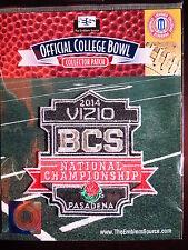 NCAA 2014 Vizio BCS National Championship Patch Florida State, Auburn