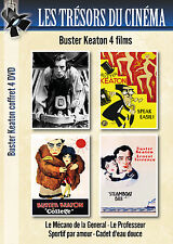 Coffret 4 DVD Buster Keaton Mécano General, Le Professeur, Steamboat et College