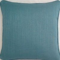 A 16 Inch cushion cover in Laura Ashley Edwin Teal Fabric