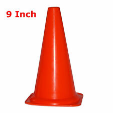 "WORKOUTZ 9"" INCH ORANGE SAFETY CONES (LOT OF 12) SPORT FIELD MULTIPURPOSE SOCCER"