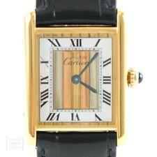 Cartier Uhr Tank Vermeil Quarz Lady Unisex Revision
