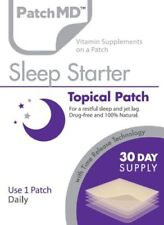 PatchMD Sleep Starter Topical Patch 30 Day Supply Supplement Vitamin EXP: 2022