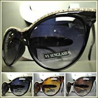 1f75f5717bcc EXAGGERATED VINTAGE RETRO Hot CAT EYE Style BLING SUN GLASSES Designer  Fashion
