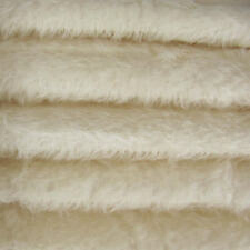 "1/4 yd 300S/C White INTERCAL 1/2"" Ultra-Sparse Curly S-Finish Mohair Fur Fabric"