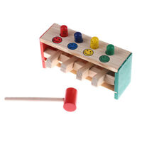 Baby Wooden Hammer Beat Toys Game Hammer Child Musical Instrument Education~RK