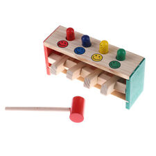 Baby Wooden Hammer Beat Toys Game Hammers Child Musical Instrument Education vu