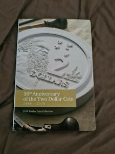 2018 RAM $2 - 30th Anniversary Of The $2 Coin 12 Coin Set Unc Low Mintage