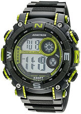 Armitron Sports Mens Digital Chronograph Lime Green & Black Watch 40/8284LGN