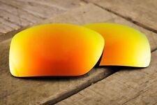 Dark Orange Fire Ruby Red Polarized Mirrored Sunglass Lenses for Oakley Oil Drum