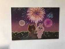 LINE Friends Post Card Korea - Brown & Cony Fireworks Love Food LINE STORE