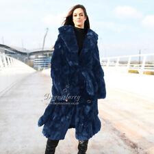 Pieced Rex Rabbit Fur Coat, Real Fur Coat, Winter Fur Coat
