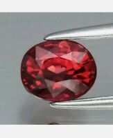 Rodolita 1.02ct 6x5mm oval oval natural rosa rojo de Madagascar