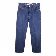 Diesel Mens Classic Straight Jeans Blue Dark Wash 100% Cotton Button Fly 34x30
