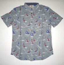 31cca81fc9 VANS Boys Youth Seaborn Short Sleeve Woven Button up Top Shirt Medium