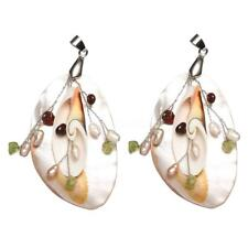Freshwater Pearl Natural White Shell Pendant Beads Fit Necklace Jewelry DIY Gift