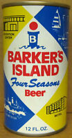 BARKER'S ISLAND FOUR SEASON BEER ss CAN, Walter Brewing Co., WISCONSIN 1979 1/1+