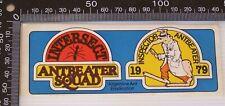 Vintage 1979 Intersect Inspector Anteater Squad Souvenir Promo Vinyl Sticker
