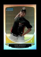 LUIS HEREDIA PIRATES MINT REFRACTOR RC  MINI #15 SP 2013 BOWMAN CHROME 6A