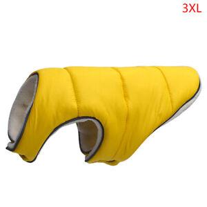 Warm Winter Dog Clothes Reflective Clothing Vest Fleece Pet Jacket Dogs Coat  oL