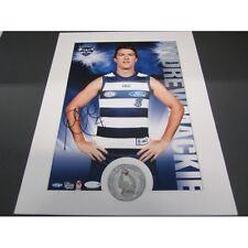 GEELONG CATS ANDREW MACKIE AFL SIGNED HERO SHOT PRINT ONLY