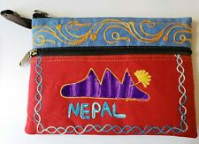 New Handmade Nepal Gypsy Purse Shangri-La look hand Bag - pocketbook zip up