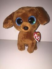 """TY DOUGIE DACHSHUND  6"""" BEANIE BOOS-NEW, MINT TAG *IN HAND* SO ADORABLE"""