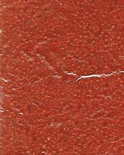 Large Lot of Size 12  Orange Glass Seed Beads 50 grams .06 Jewelry Making