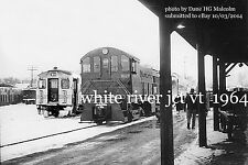 Boston & Maine RR  Passenger train from Concord NH at White River Jct 1964