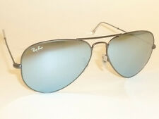 New RAY BAN Aviator Sunglasses Matte Gunmetal  RB 3025 029/30 Silver Mirror 55mm