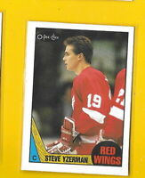 34657 STEVE YZERMAN 1987/88 O-PEE-CHEE DETROIT RED WINGS CARD #56 🏒